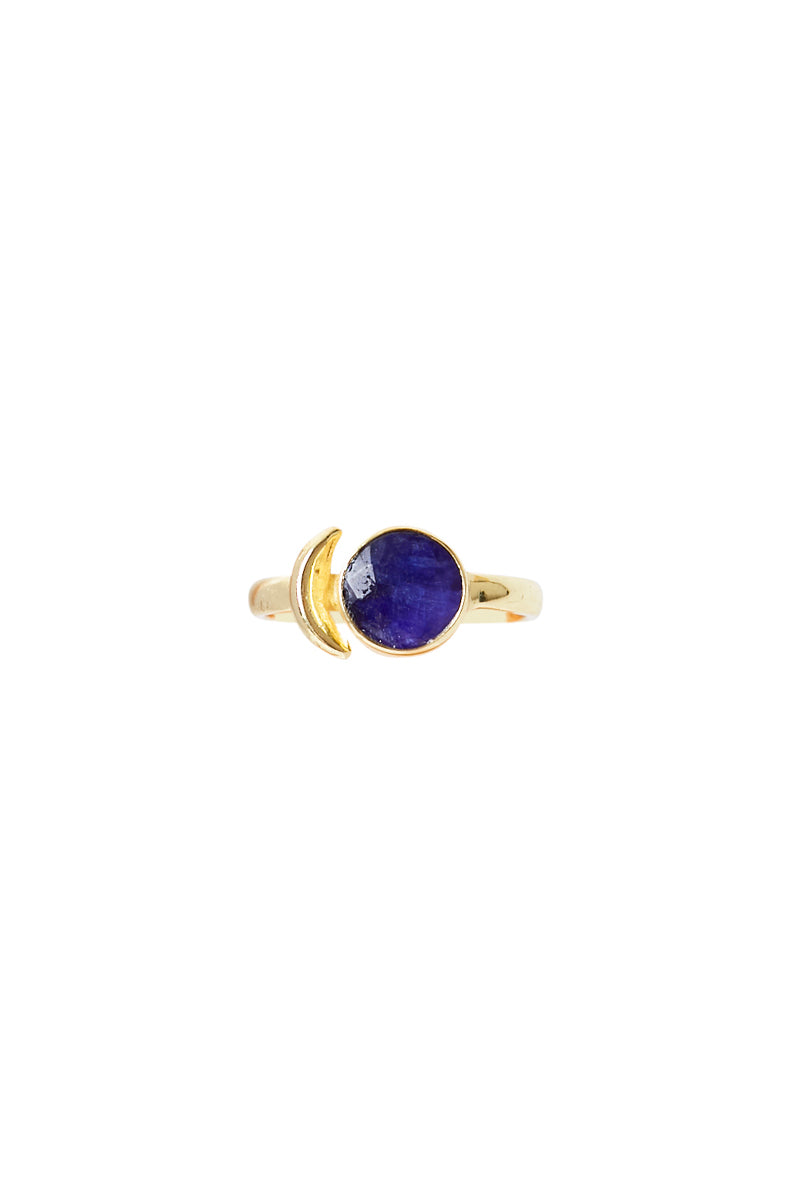 Gold Lune Ring