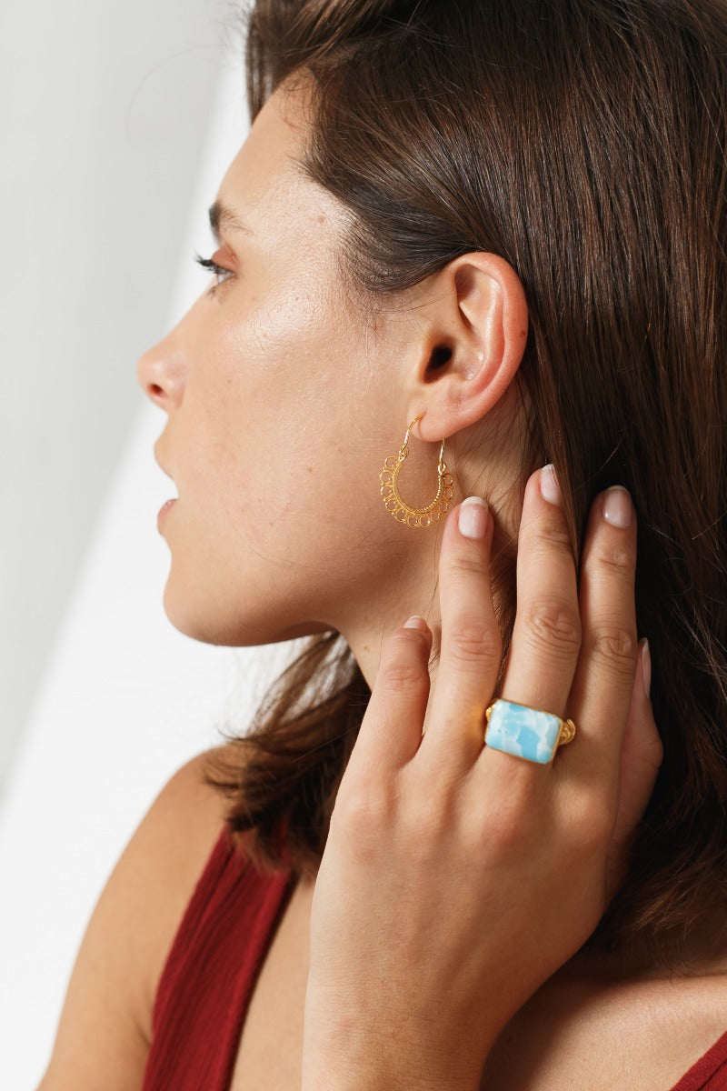 Perry Gold Hoop Earrings