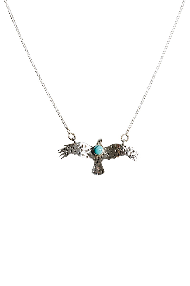 Flying Eagle Turquoise Necklace