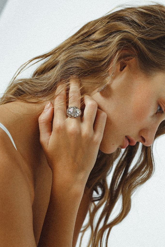 Geometric Dome Ring