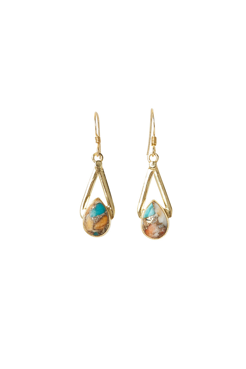 Gold Gomeda Earrings