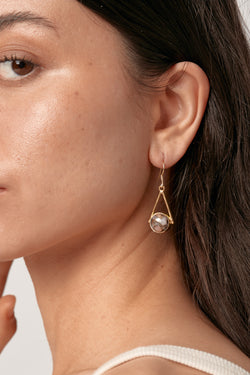 Gold Anzu Earrings