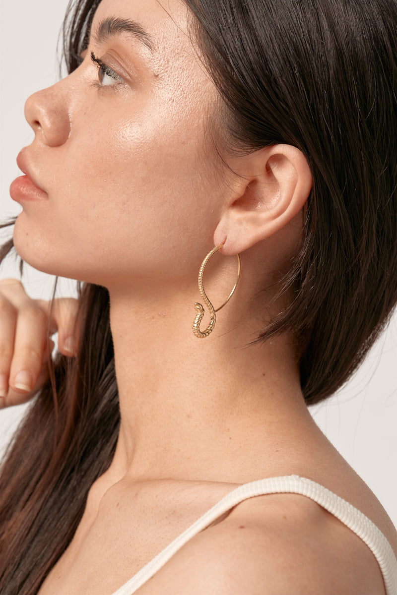 Gold Cobra Earrings