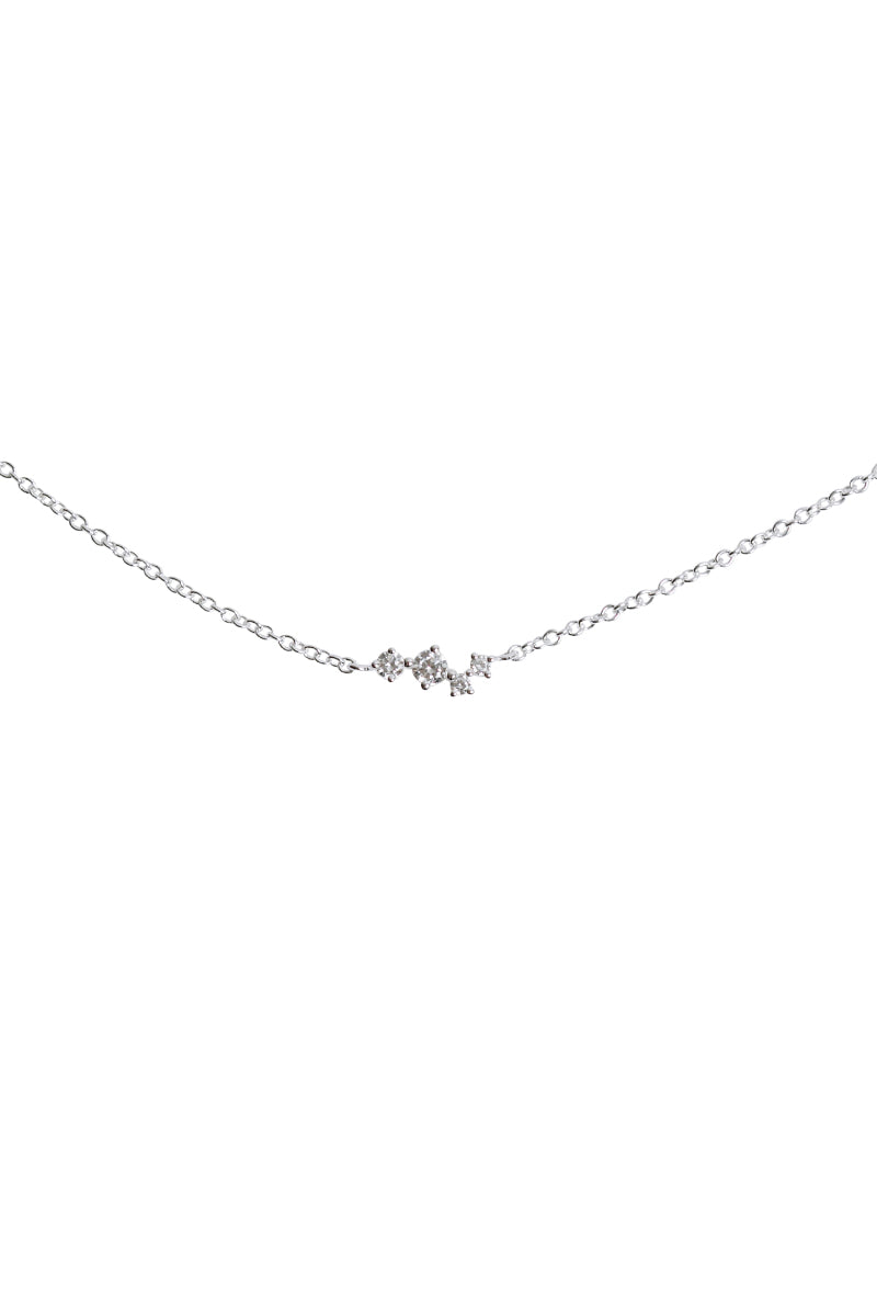Cubic Zirconia Squares Necklace