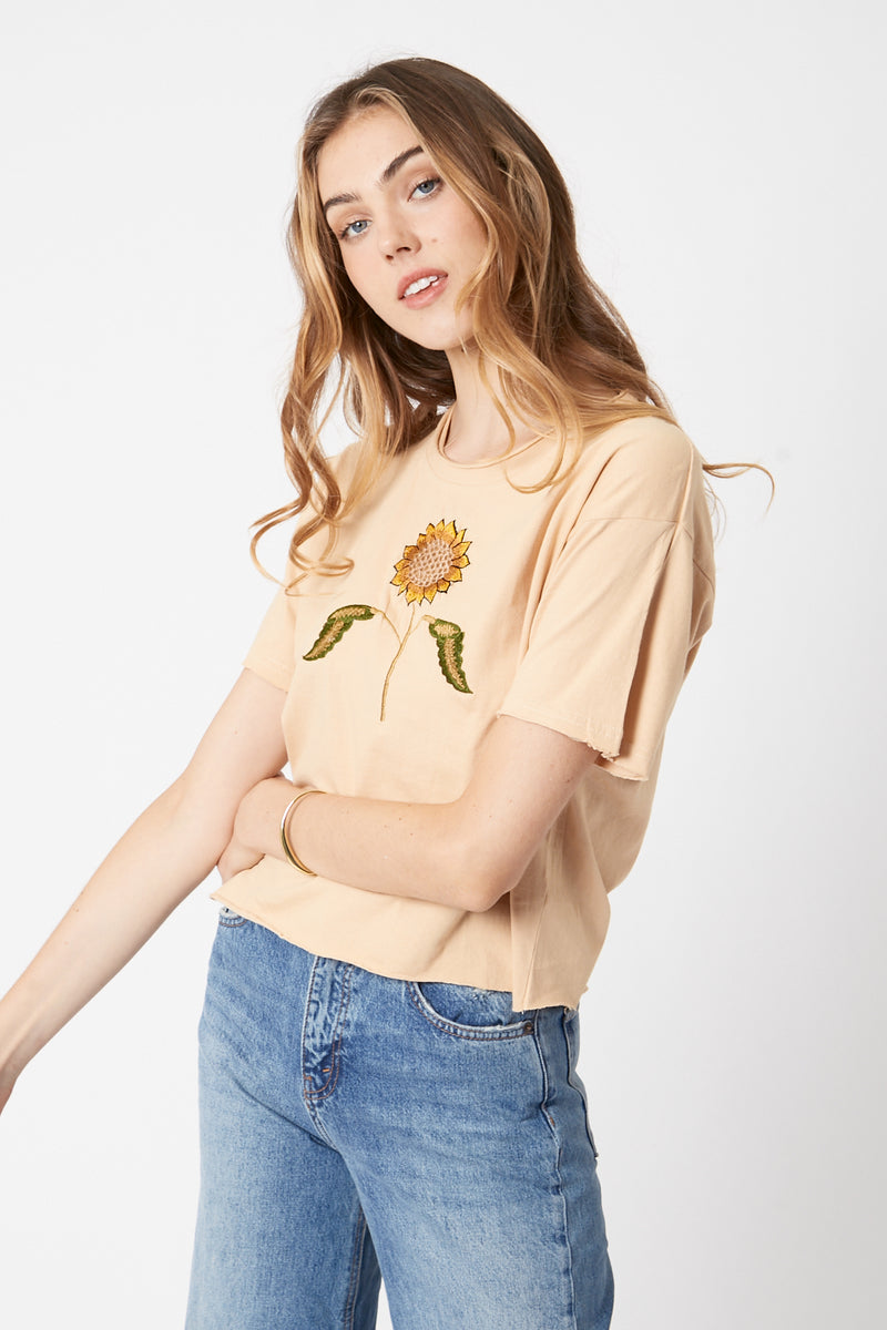 Natural Sunflower Tee