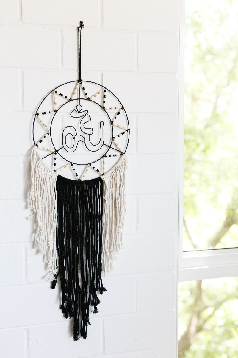 Beaded Om Dreamcatcher