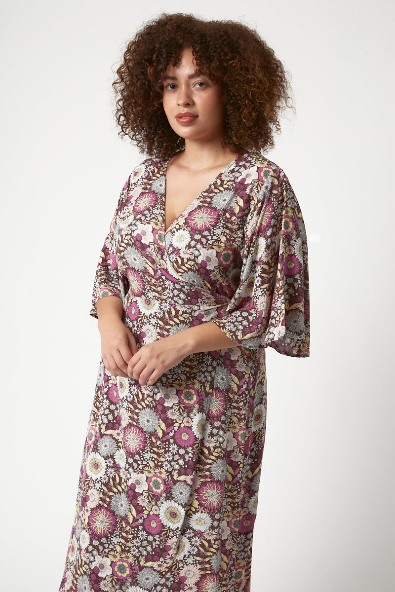 Amy Wrap Dress (Free Size)