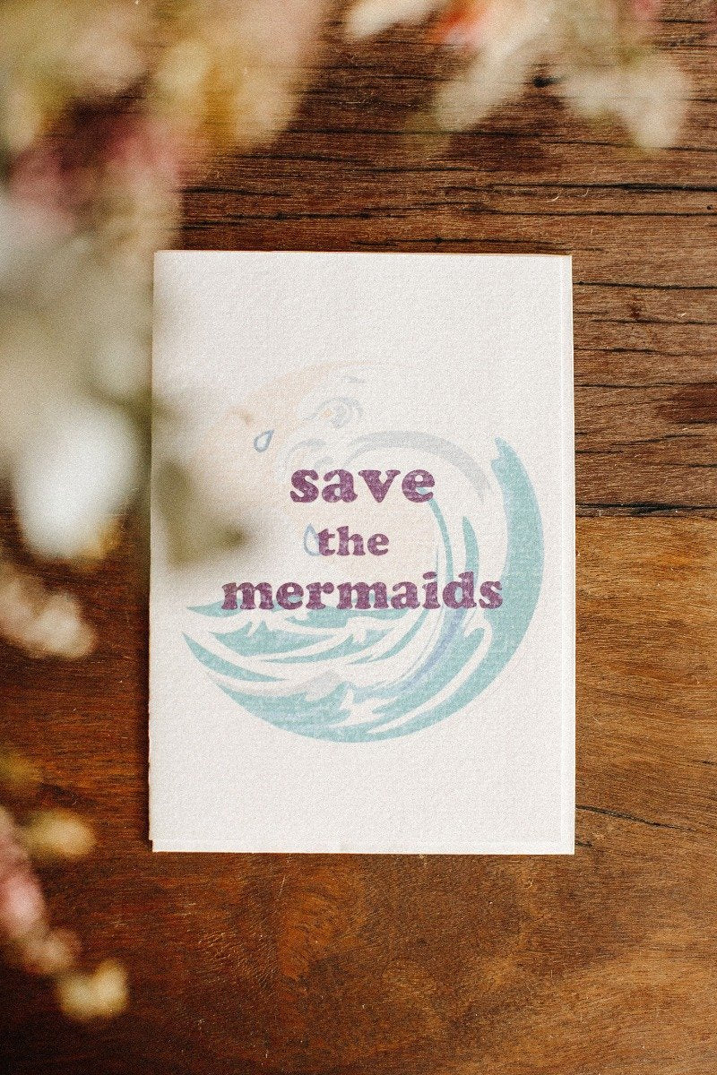 Save The Mermaid Greeting Card