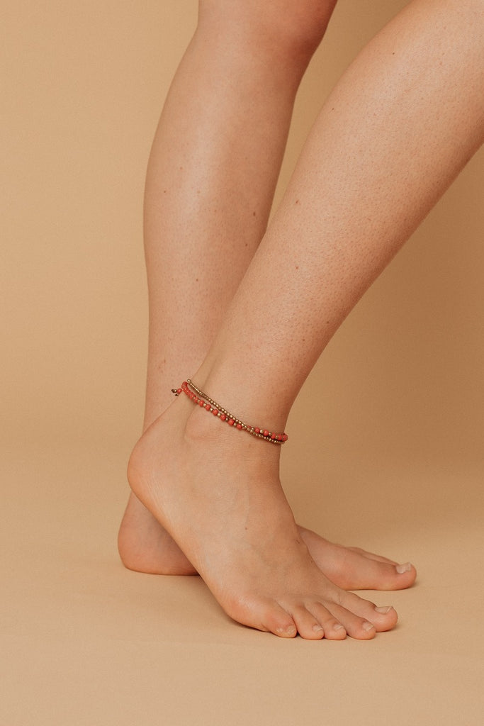 Beaded Colour Anklet