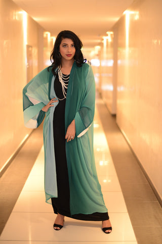 Green on Fleek Kimono Abaya