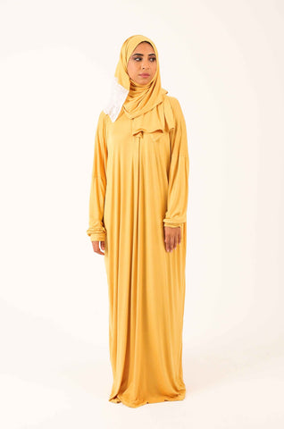 Prayer Onesie - Mustard