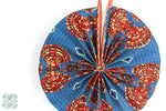 Load image into Gallery viewer, African Fabric Fans Fan