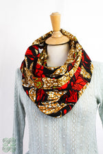 Load image into Gallery viewer, Osu Wide Reversible Infinity Scarf Triangle