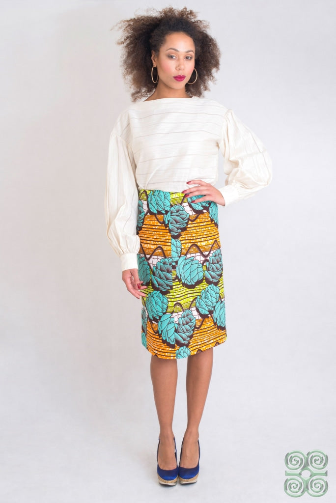 Pine Cone A-Line Skirt Womens Dress
