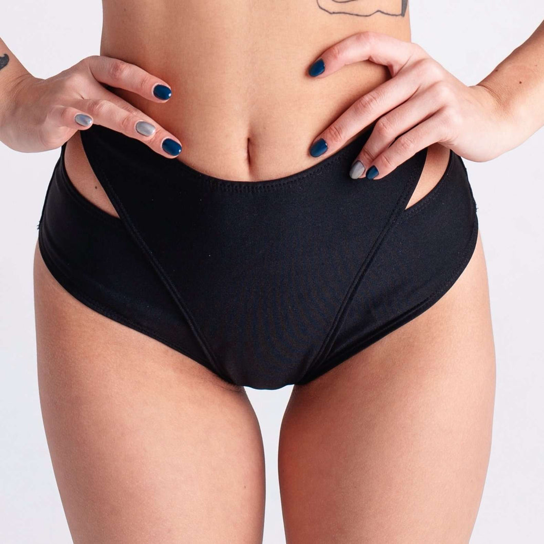 Dicentra - Black/Black Hearts Bottom