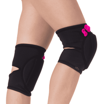 Load image into Gallery viewer, Black Pretty Pink Knee Pads