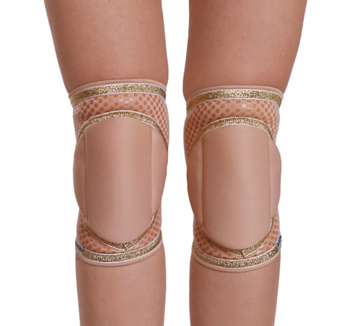 Natural Gold Knee Pads with GRIP