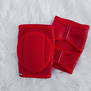 Red Sin Knee Pads with GRIP