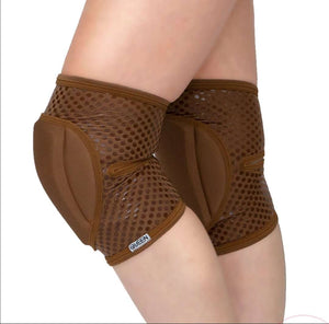 Tan Natural Knee Pads with GRIP (Mocha)