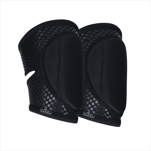 Sleek Black Knee Pads with GRIP