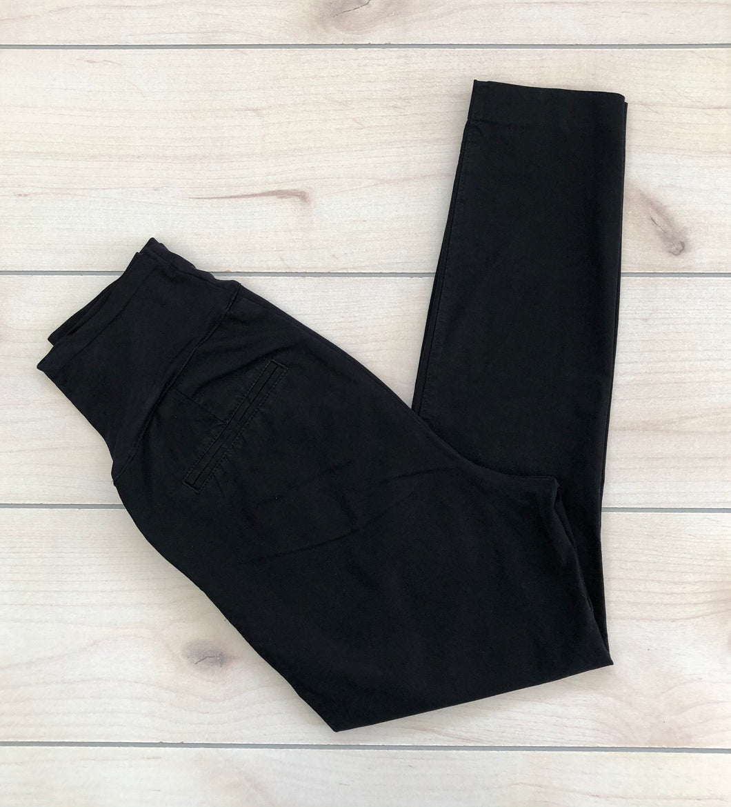 Old Navy Maternity Pixie Cut Black Pants Size 2