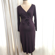 Load image into Gallery viewer, Gap Maternity Faux Wrap Dress Size Small