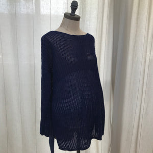 Motherhood Blue Light Knit Sweater