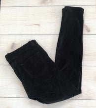 Load image into Gallery viewer, J Brand Black Velvet Skinny Pants Size 28