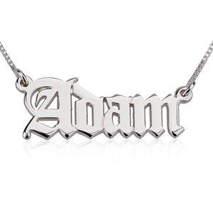 Old E Name Necklace