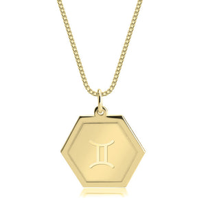 Hexagon Zodiac Pendant