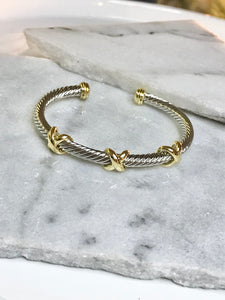 XX Mixed Metal Cuff