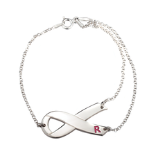 Breast Cancer Awareness Ribbon bracelet