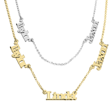 Load image into Gallery viewer, Multiple Name Necklace