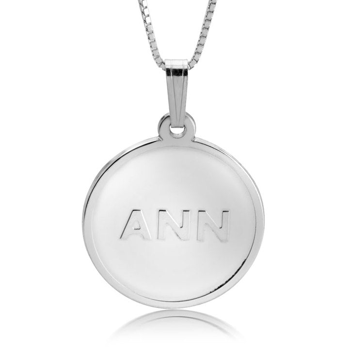 Monogram Disc Plate Necklace