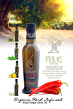 Pellas Nature Fresh Organic Red Hot Pepper Infused Extra Virgin Olive Oil | 8.45 oz Bottle