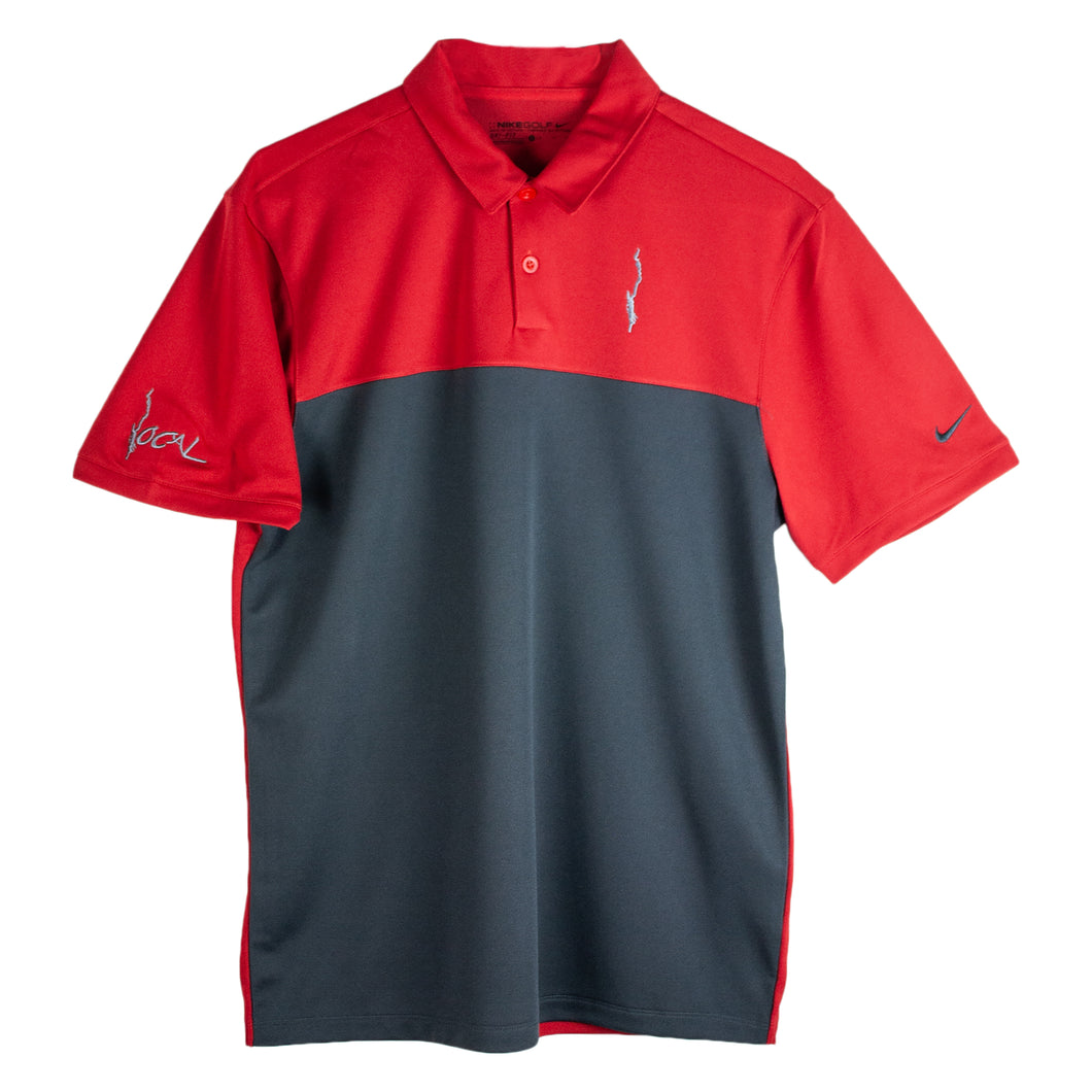 Mens Nike Golf Red Colorblock