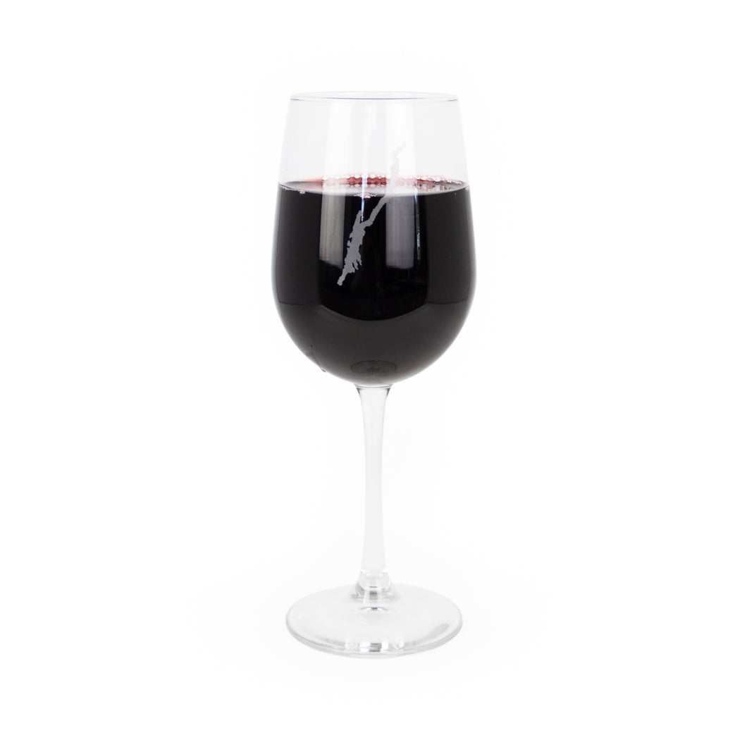 Lake House Wine Glass