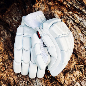 Morton & Carson All White Platinum Batting Gloves - The Cricket Store