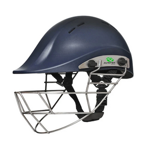 Open image in slideshow, Ayrtek Cricket PremierTek Youth Cricket Helmet Steel (Blue) - The Cricket Store
