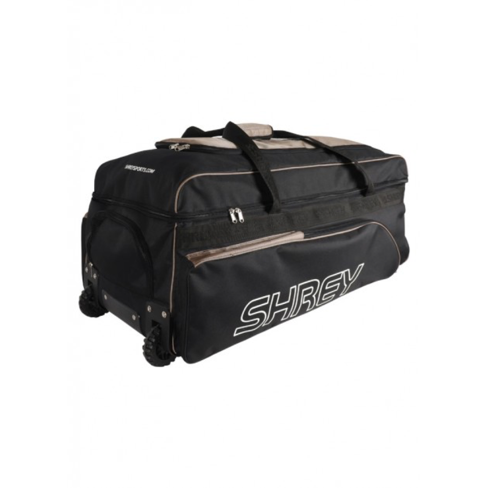 Shrey Performance Soft Coffin Wheelie Black & Gold Cricket Bag - The Cricket Store (2)