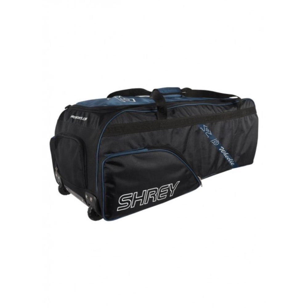 Shrey Pro Wheelie Black & Blue Soft Coffin Cricket Bag - The Cricket Store (2)