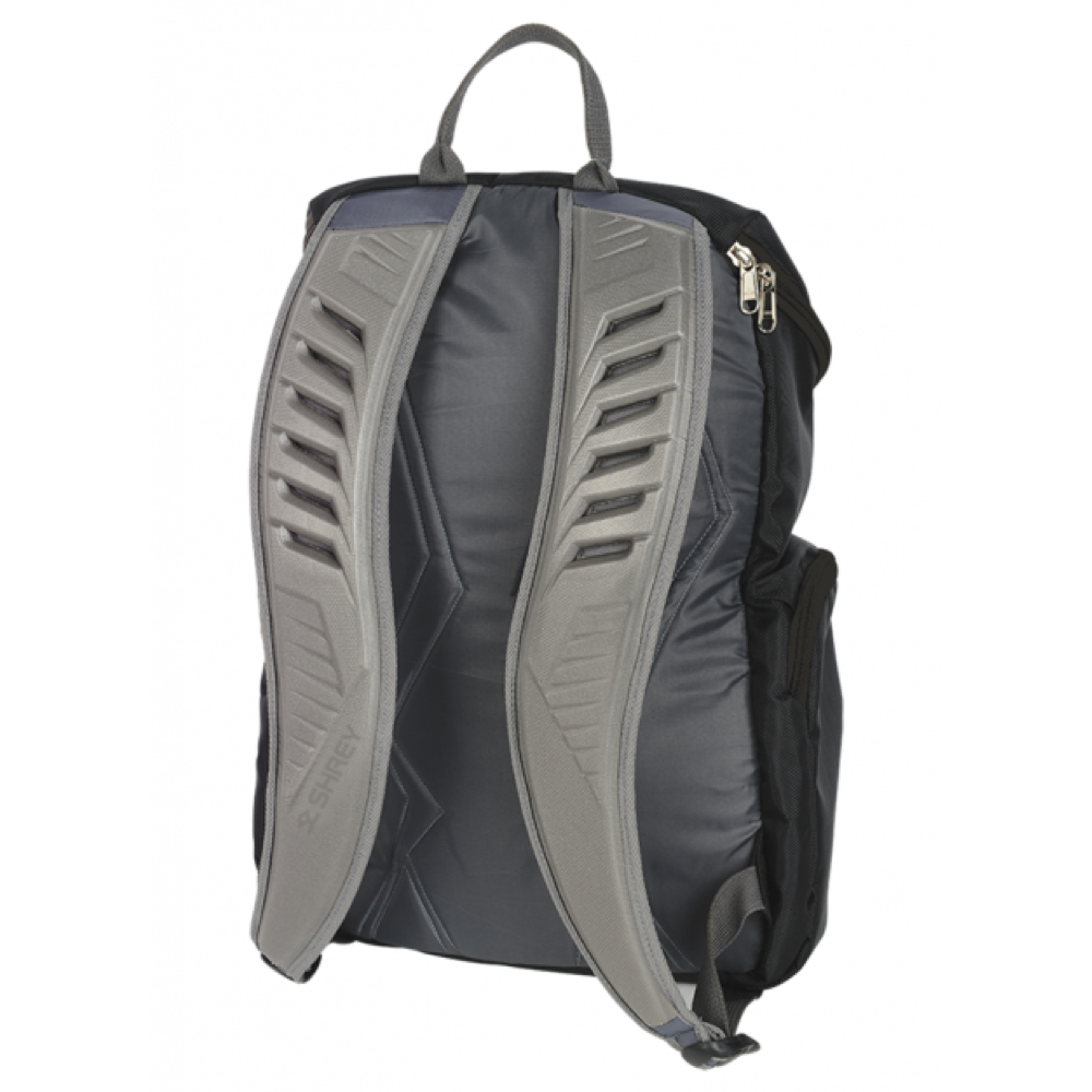 Shrey Black Rucksack Bag - The Cricket Store (Back)