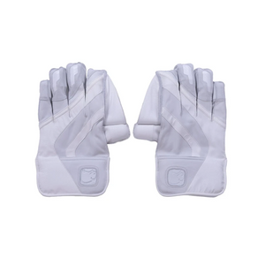 Wombat Cricket Pro Wicket Keeping Gloves (White) - The Cricket Store (1)