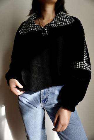 Plush Houndstooth Pullover