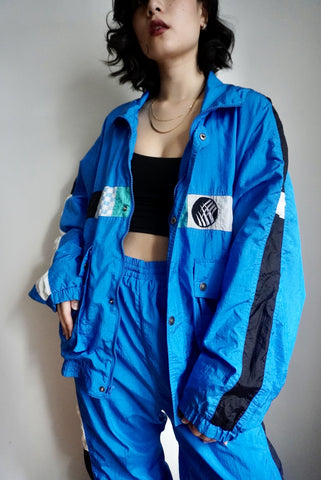Electric Blue Windbreaker Set, 33-37W