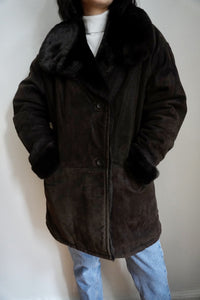 Suede Plush Cocoa Jacket