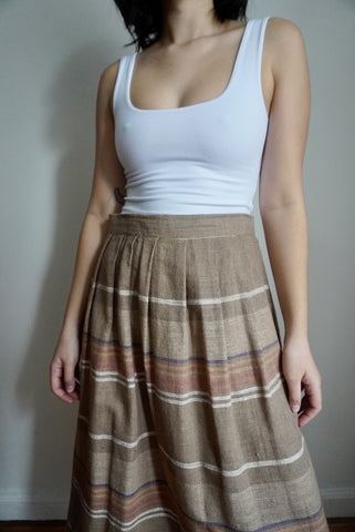 Boho Stripe Skirt, 29W