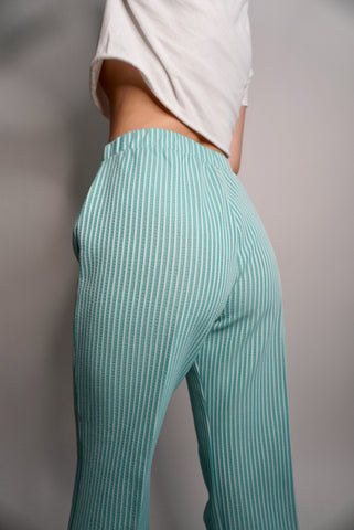 Green Stripe Pants, 26-28W