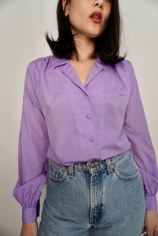 Lilac Pocket Blouse