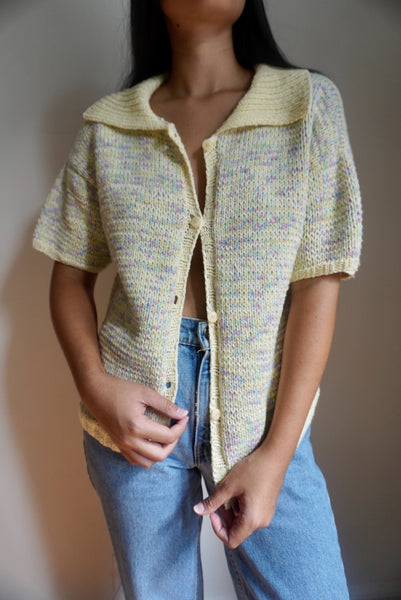 Funfetti Short Sleeve Cardigan